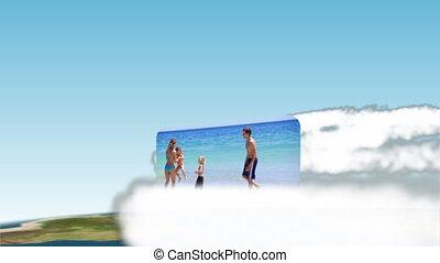 Families enjoying the summer