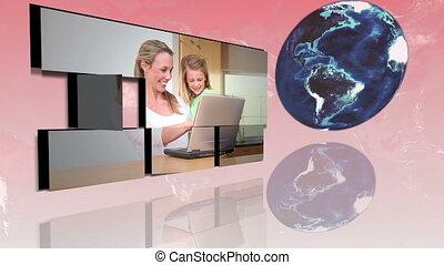 families, rond de wereld, gebruik, int