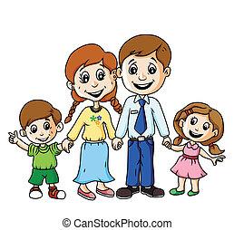 familj, lycklig