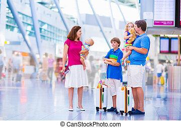 famille, aéroport