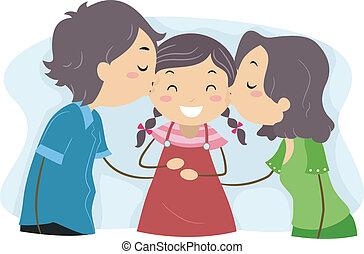 famille, baiser