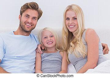 famille, beau, portrait