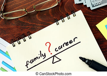 famille carrière, équilibre