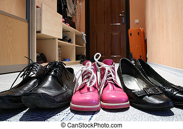 famille, chaussures