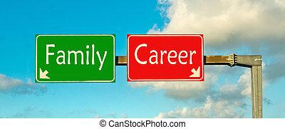 famille, choice;, carrière, faire, ton, ou