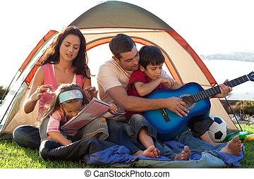 famille, ensemble, séance