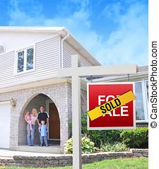 famille heureuse, acheter nouvelle maison