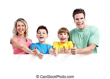 famille heureuse, banner.