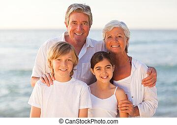 famille heureuse, portrait
