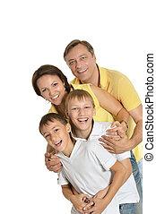 famille heureuse, quatre