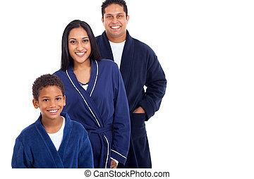 famille, indien, jeune, nightclothes