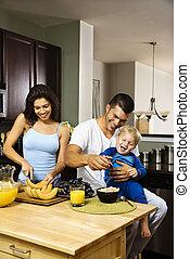 famille, kitchen.