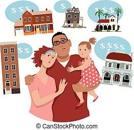 famille, maison, choisir