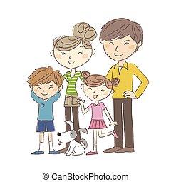 famille, parents, enfants