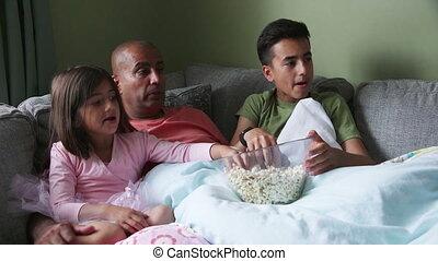 famille, pellicule, temps