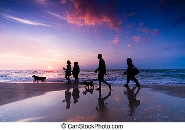 famille, promenade
