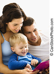 famille, reading.