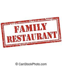 famille, restaurant-stamp