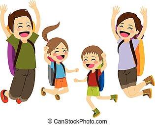 famille, sauter