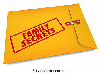 famille, secrets, illustration, recherche, hérédité, ascendance, 3d