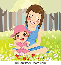 famille seule, mère