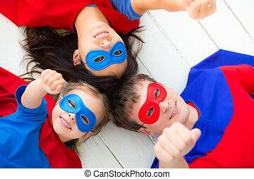 famille, superheroes