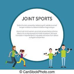 famille, texte, cadre, sports, jointure, affiche, cercle