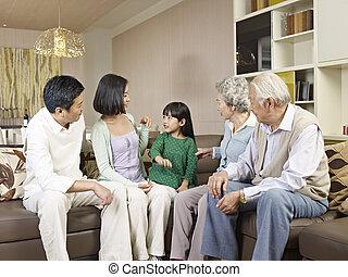 famille, three-generation