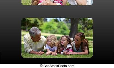 famille, vidéos, heureux