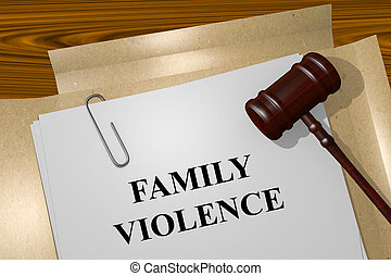 famille, violence, concept