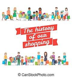 familles, histoire, concept, achats, notre