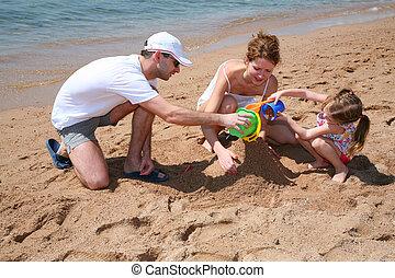 familly on beach 2