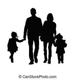 familly silhouette illustration - familly silhouette art...