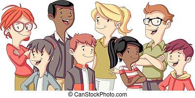family., γελοιογραφία