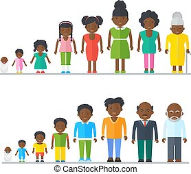 family., アメリカ人, 王朝, 黒, アフリカ