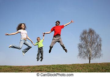 family., 跳跃, spring.
