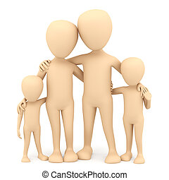 family., 3d, image.
