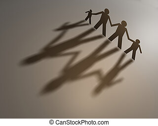 Family  - A family people symbol - rendered in 3d