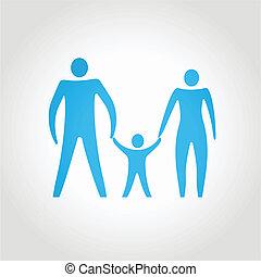 family., abstratos, vetorial, conceitual, composição, feliz