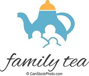 family., abstratos, vetorial, ilustração