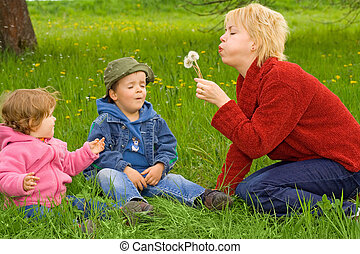 Family activities outdoors
