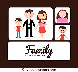 family album design, vector illustration eps10 graphic