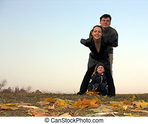 family and autumn