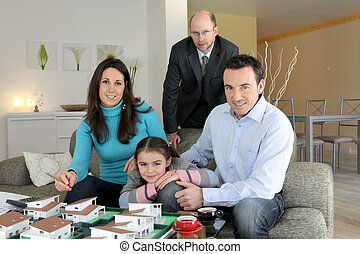 Family and estate-agent