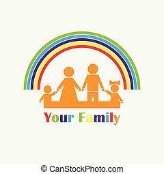 Family and Rainbow