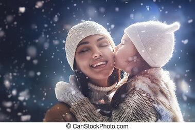family and winter season