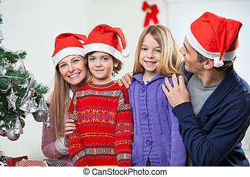 Family At Home During Christmas