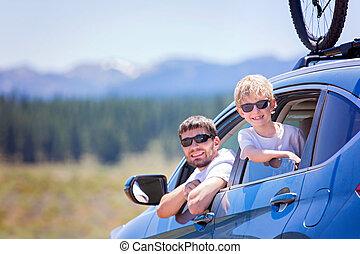 family at road trip