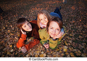 Family autumn portrait