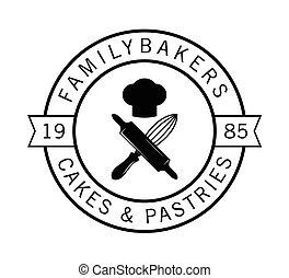 Family bakers : Bakery label badge